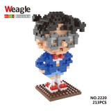 Wholesale - Weagle DIY Diamond Mini Blocks Figure Toys Detective Conan 213Pcs 2220