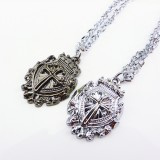 Wholesale - Jewelry Lovers Neckla Created Infinity Chain Pendant Christian Cross Couple Necklace 2Pcs Set XL186