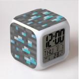 Wholesale - MineCraft MC Series Colorful Light Night Light Multifunction Clock 003