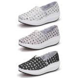Wholesale - Women's Canvas Platform Slip On Sneakers Athletic Walking Shoes 1721