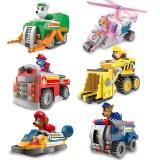 Wholesale - Paw Patrol Roles Vehicles Block Figure Toys Lego Compatible QS08