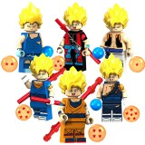 wholesale - Dragon Ball Lego Compatible Block Mini Figure Toys 6Pcs Set XP021-026