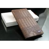 Wholesale - Fashionable Cow Leather Crocodile Stripe  Men Wallet
