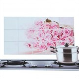 Wholesale - Kitchen PVC Durable Rose Style Oilproof Sticker