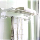 Wholesale - Kitchen/Bathroom Strong Wall Suction Folding Tower Shelf