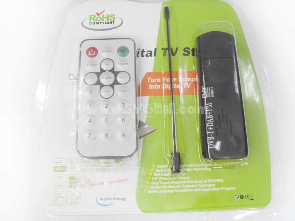 Mini USB DVB-T Digital TV Tuner Supporting FM & DAB Function (YY-DVBT90)