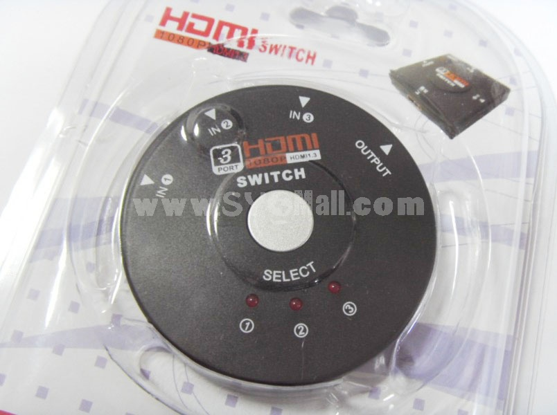 3-Port HDMI Switcher (YY-HDS03)