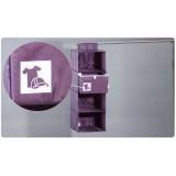Wholesale - Stylish Violet 5 Girds Shirts Hanging Closet Organizer