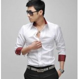 Wholesale - Ec.k.o Colored Inner Edges Leisure Shirt with Long Sleeves (303-C25)