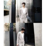 Wholesale - Fashionable Casual Pure Color Knitting Cardigan (1-303-Q02)