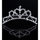 Wholesale - Classic Heart Pattern Rhinestone Splash Wedding Tiara