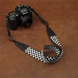 Wholesale - Shoulder Strap for SLR Camera Universal Type Black&white Plaid Style (CAM8174)