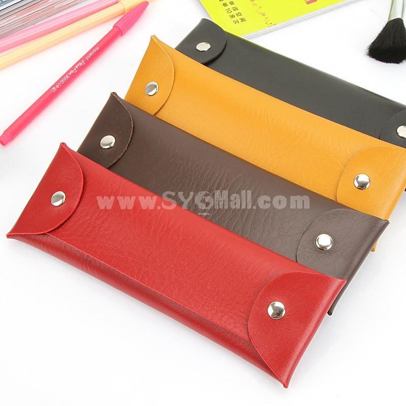Pencil Bag Stationery Bag PU Leather Fashion (W2040)