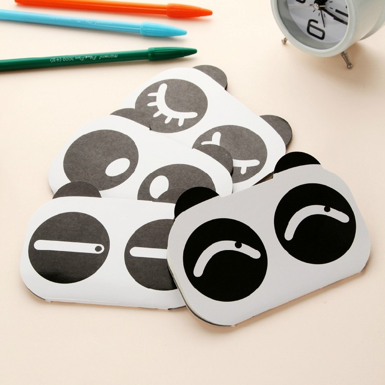 Lovely Panda Design Acount/Schedule Notebook Diary 4-Pack (W2118)