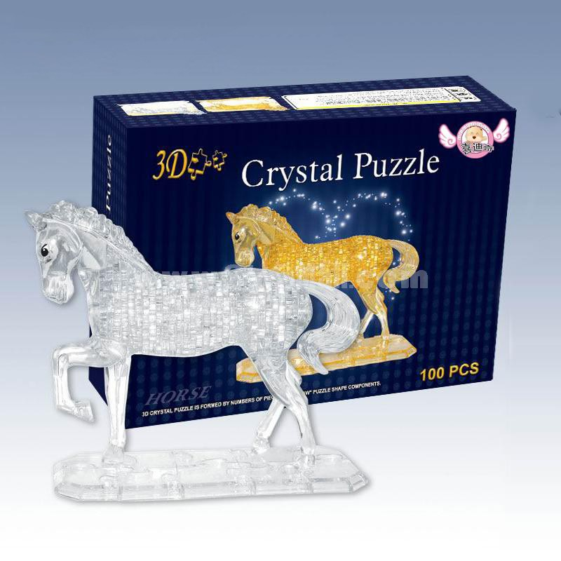 100-in-1 3D Horse Crystal Jigsaw Puzzle