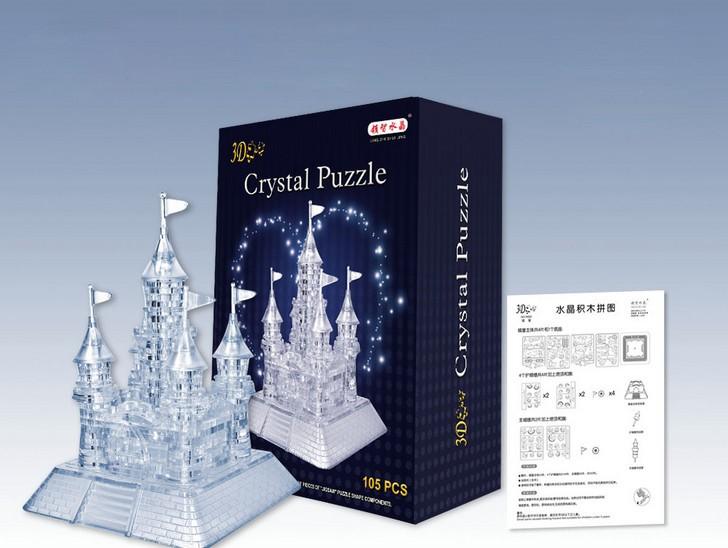 105-in-1 3D LED Music Casel Crystal Jigsaw Puzzle