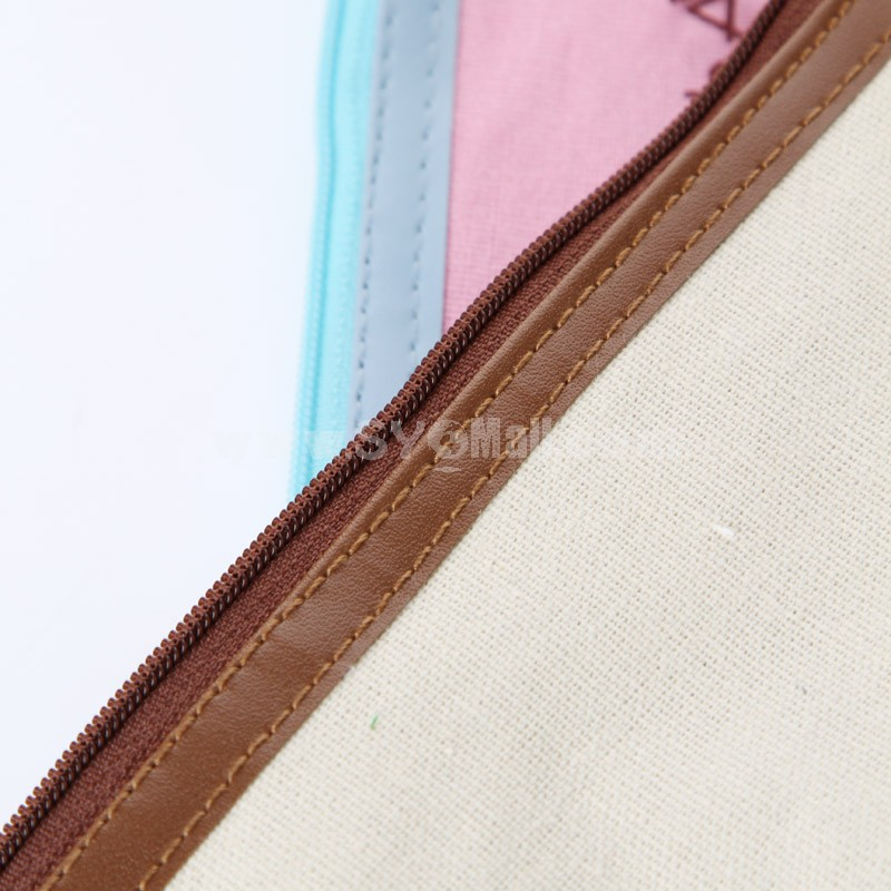 Handbag/Storage Bag/Cosmetic Bag/Purse Multi-Purpose Little Artist Style Cartoon Canvas (SN0007)