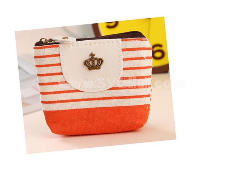 Handbag/Storage Bag/Cosmetic Bag/Purse Multi-Purpose Metal Logo/Stripes Style  (K0646)