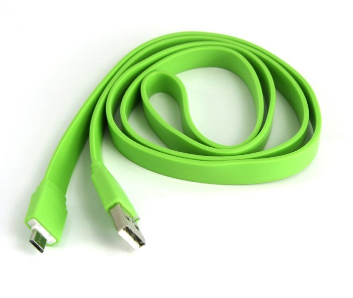 Micro USB Data & Charger Flat Cable for Samsung/MOTO/HTC 3.3 Ft