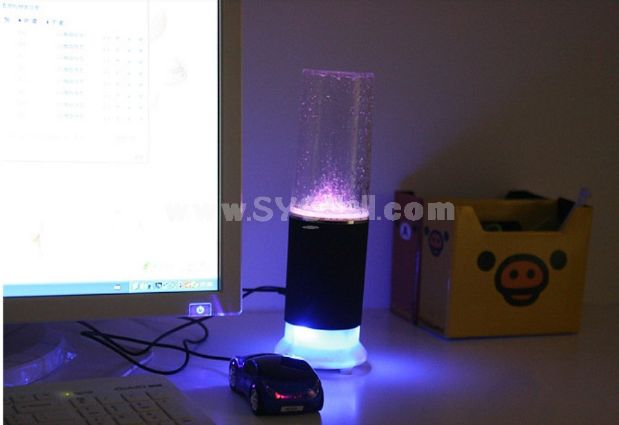 Creative USB Touch Control Colorful LED Water Spray Speaker
