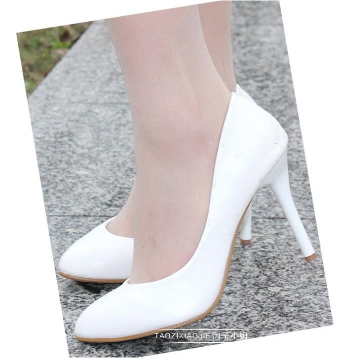 Leatherette OL Stilette Heel Closed Toe Shoes