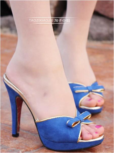 Stilette Heel Peep Toe Sandals/Slippers