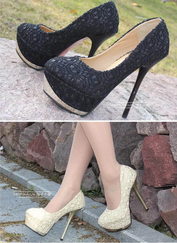 Stilette Heel Closed Toe Shoes