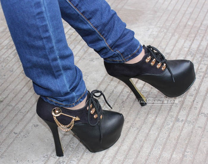 Leatherette Stilette Heel Sandals