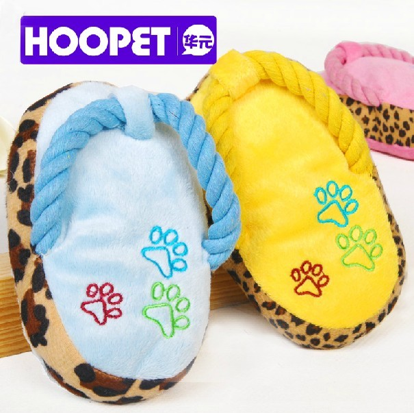 HOOPET Slipper Shaped Squeaking Toy for Dog Pet Toy