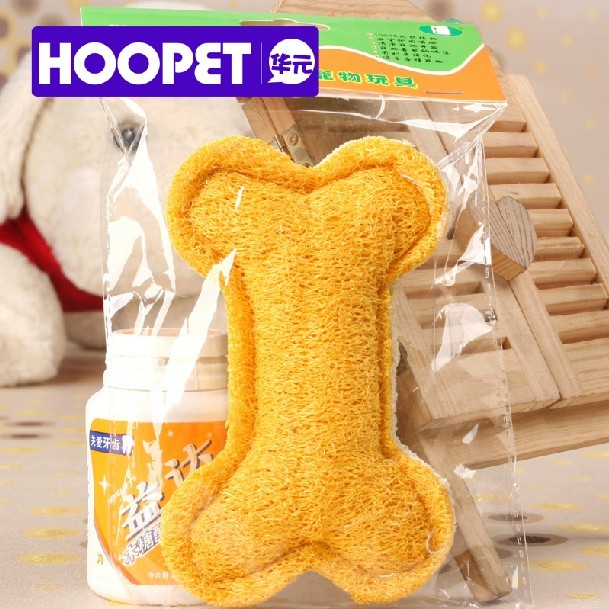 HOOPET Bone Shaped Cleaning Tooth Loofah Sponge Pet Toy