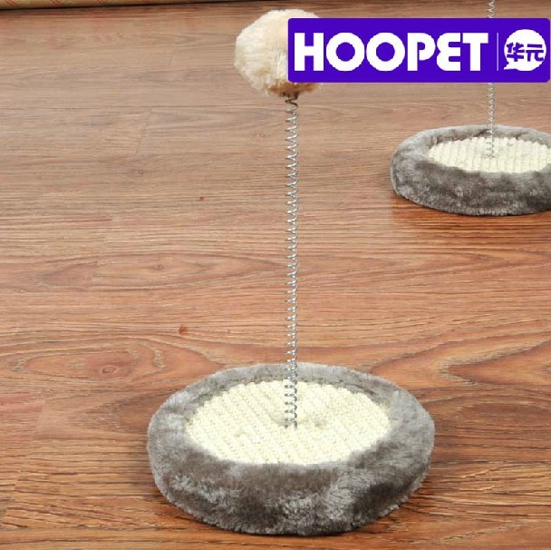 HOOPET Scratching Pad with Sring Ball for Cat