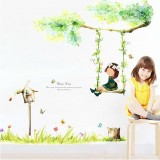 Wholesale - LEMON TREE Removable Wall Stickers Swing Girl for Children Room 39*35 in