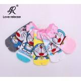 Wholesale - Cute Cat Pattern Women LR Cute Cotton Socks 20Pairs/Lot Five Color