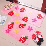 Wholesale - Cute Strawberry Pattern Non-Slip Door Mat D263 Small Size 66*45cm