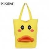 Wholesale - Stylish Charming Duckbill Pattern Yellow Canvas Casual Shoulder Bag DL372