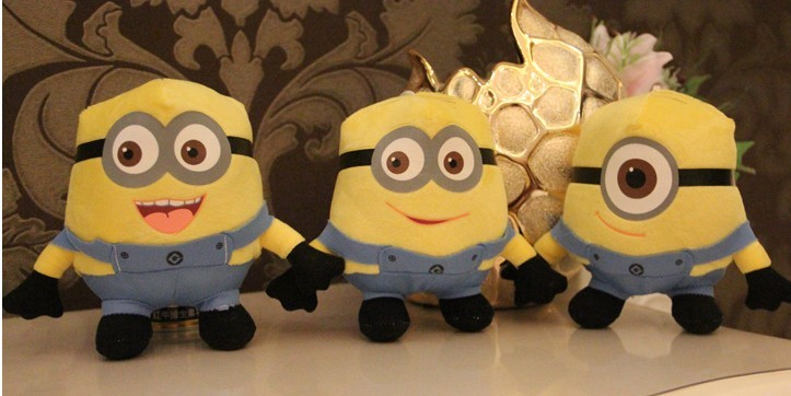"18*12CM/7*5"" DESPICABLE ME The Minion Plush Toy Dave the Minion NWT Free Shipping"