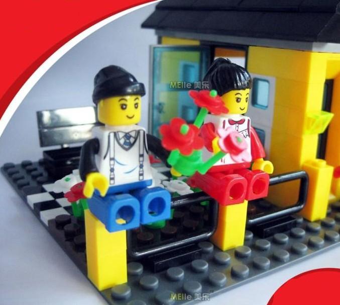 WANGE High Quality Plastic Blocks Villa Series 458 Pcs LEGO Compatible 31052