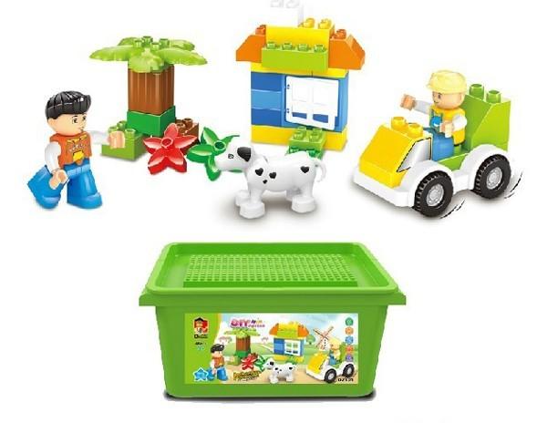 WANGE High Quality Plastic Blocks Large Bricks Agritourism Series 46 Pcs LEGO Compatible D2101