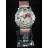 Wholesale - Retro Style Women's Pink PU Alloy Quartz Movement Glass Round Fashion Watch