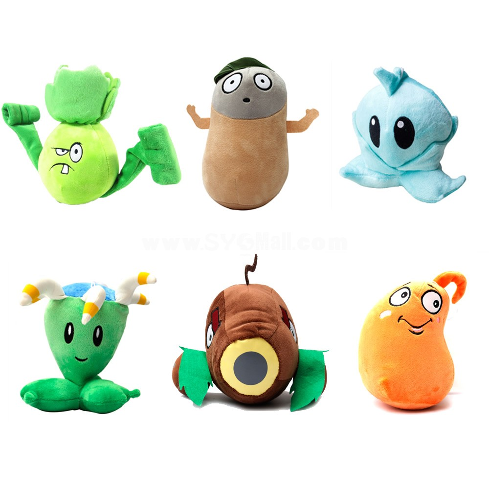 Plants vs Zombies 2 Series Plush Toy Small Size 6 Combo