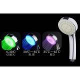 Wholesale - Fun & Romantic LED Light Bathroom Shower Head (Temperature Sensing Color Changer)
