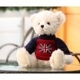 "Wholesale - Seating Height Union Jack Bear Plush Toy 35cm/13.8"""