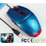 Wholesale - Creative Iron Man Shaped Wired Mouse -- 3 Buttons