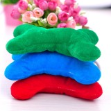 wholesale - Squeaking Dog Chewing Toy Plush Toy Dog Toy Pet Toy for Small Dogs -- Plush Color Bone