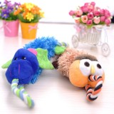 Wholesale - Squeaking Dog Chewing Toy Plush Toy Dog Toy Pet Toy -- Hippo/Bee