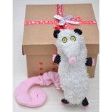 Wholesale - Squeaking Dog Chewing Toy Plush Toy Dog Toy Pet Toy -- White Mouse