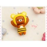 Wholesale - Cute & Novel Rilakkuma Face Changing Phone Plug - 4 Different Faces