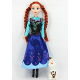 """Wholesale - Frozen Princess Action Figures Figure Doll 33cm/13.0"""" -- Anna with Olaf"""