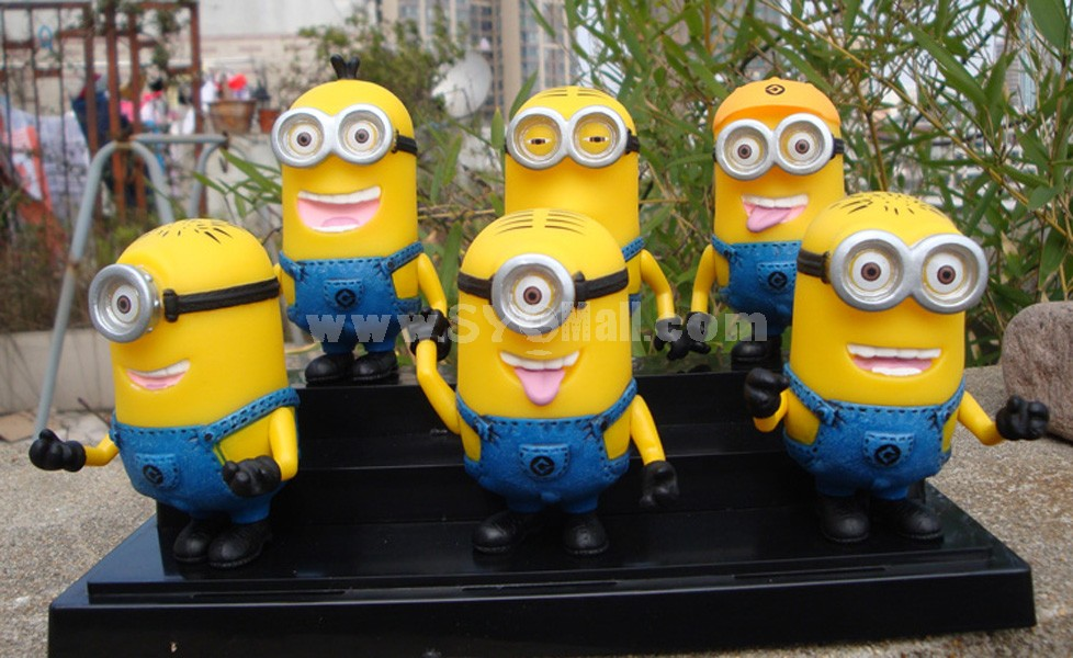 Deipicable Me The Minions Figures Toys Vinyl Toys with Gift Box 6pcs/Lot 15cm/5.9inch