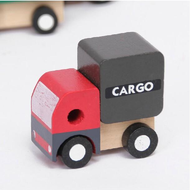 Wood Block Cars Car Models 6pcs/Lot
